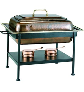 Stainless Steel Chafing Dish - Antique Copper Image