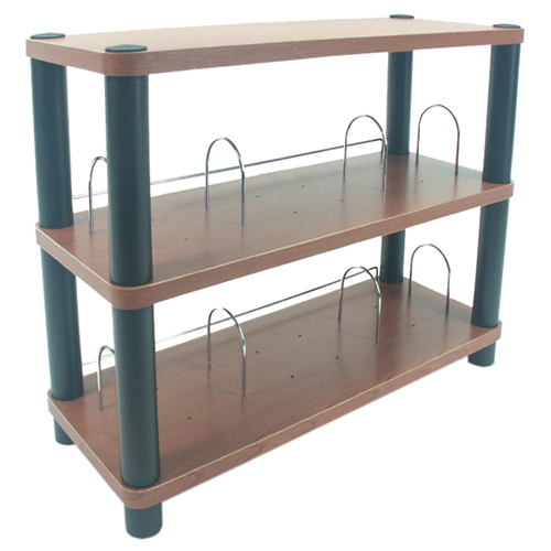 3 tier shelf with rounded corners in media storage towers for Table th rounded corners