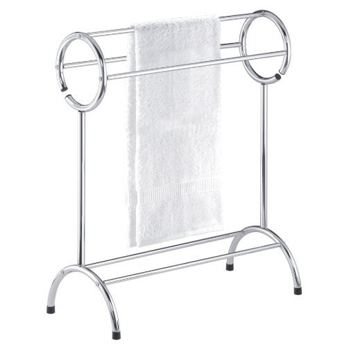 Free Standing Bathroom Towel Rack Chrome Image