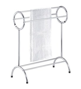 Free Standing Bathroom Towel Rack - Chrome Image