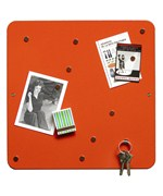Orange Magnetic Bulletin Board