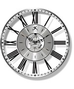 Roman Numeral Clock with Silver Accents