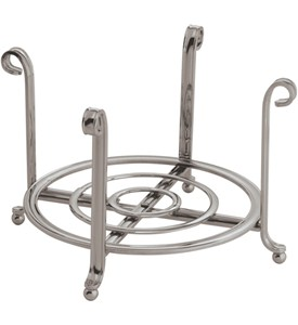 Satin Nickel Small Plate Holder and Serving Stand Image
