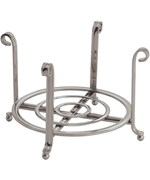 Satin Nickel Small Plate Holder and Serving Stand