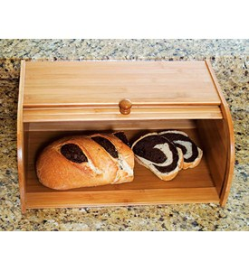 Roll Top Bread Box - Bamboo Image