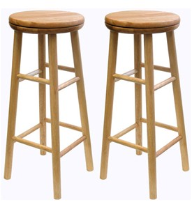 Beechwood Swivel Bar Stool (Set of 2) Image