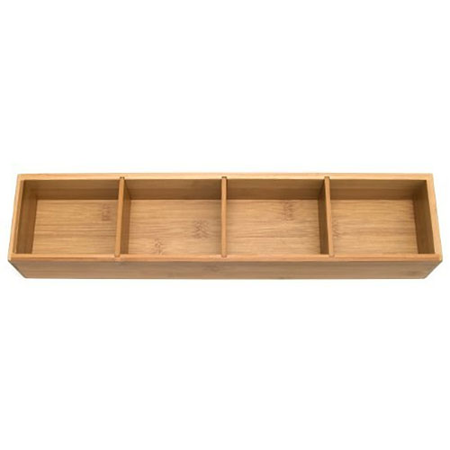 ... Slim Bamboo Adjustable Drawer Organizer ...