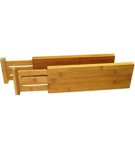 Expanding Bamboo Drawer Dividers - Deep (Set of 2) Image