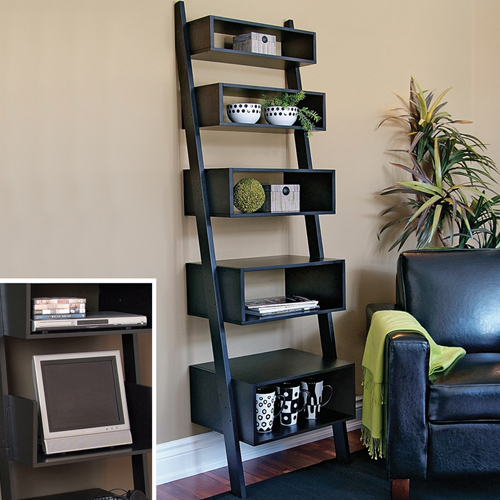 Contemporary Wall Accent Shelves In Free Standing Shelves