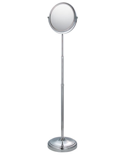 mirror on a stand vanity. Floor Stand Adjustable Mirror  Chrome Image in Vanity Mirrors