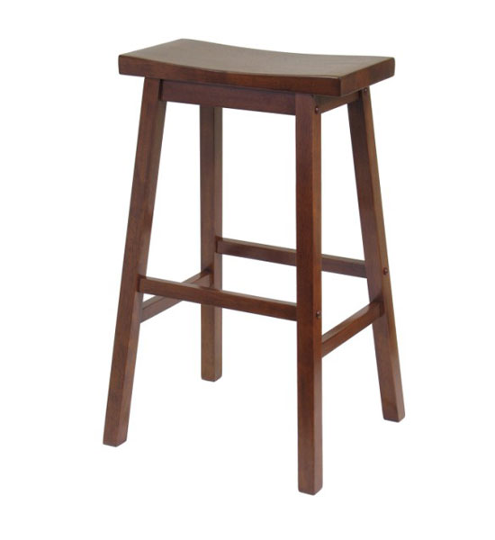 29 Inch Saddle Bar Stool - Antique Walnut Image