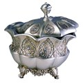 8 Inch H Traditional Royal Silver Metalic Decorative Jewelry Box by O.R.E.
