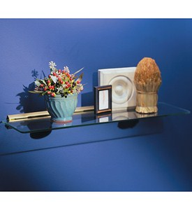8 x 24 Glass Display Shelf Kit - Brass Image