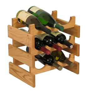 Wood Wine Rack - 9 Bottle Image