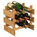 Wood Wine Rack - 9 Bottle