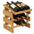 Wood Wine Rack - 9 Bottle Display