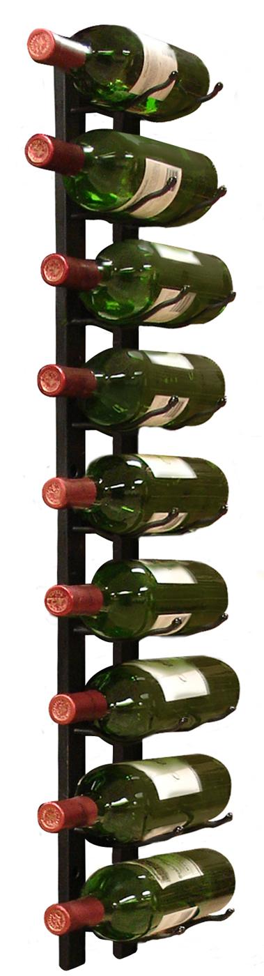 9 bottle single row wine rack