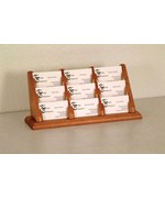 9 Pocket Counter Top Business Card Holder by Wooden Mallet