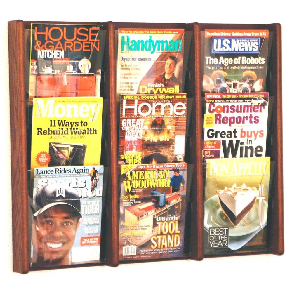 wall magazine rack 9 pocket image - Wall Magazine Rack