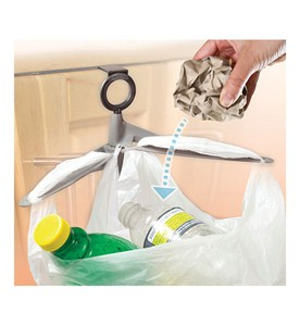 Cabinet Door Trash Bag Holder Image