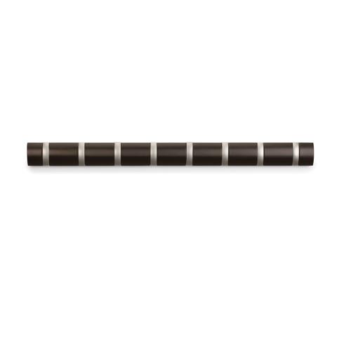 Wall Mount 8 Hook Coat Rack Espresso In Wall Coat Racks