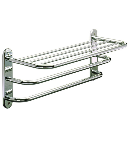 shelf and double towel bar in towel bars and rings