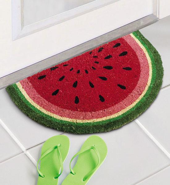 Beautiful Coir Doormat   Watermelon Slice Image