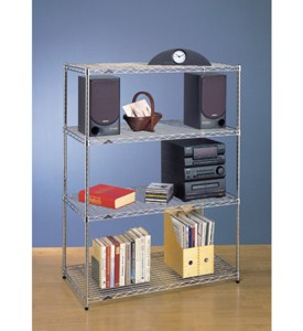 InterMetro Four Shelf Unit - Chrome Image