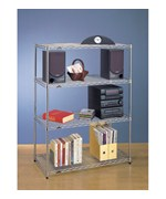 InterMetro Four Shelf Unit - Chrome