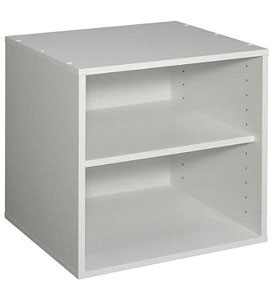 Stackable One Shelf Storage Cube White In Storage Drawers