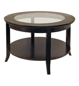 Round Coffee Table With Glass Top Image