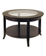 Round Coffee Table With Glass Top