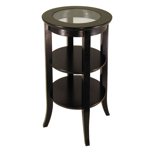 genoa end table with shelves in side tables. Black Bedroom Furniture Sets. Home Design Ideas