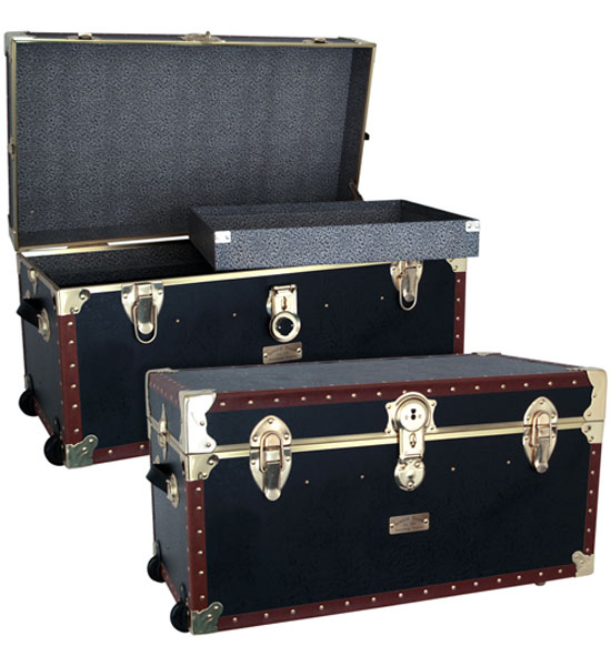 Vintage 31 inch Storage Trunk With Tray Image