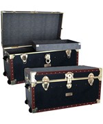 Vintage 31 inch Storage Trunk With Tray