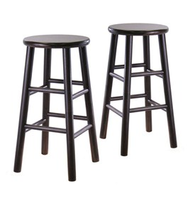 Beveled Wood Barstools - Espresso (Set of 2) Image