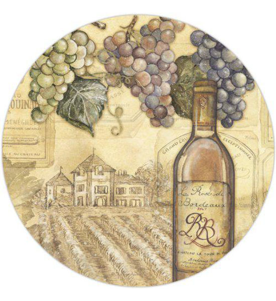 Tempered Glass Lazy Susan - Vineyard Image
