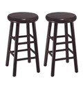 29 Inch Saddle Bar Stool Antique Walnut In Saddle Bar Stools