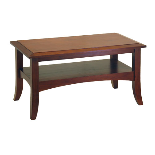Craftsman Coffee Table Antique Walnut In Coffee Tables