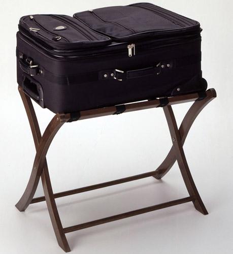 Folding Luggage Stand Walnut Image