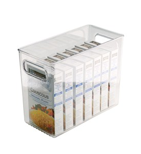 Clear Plastic Storage Bin - 10 inches by 8 inches Image