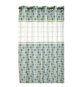 Hookless Shower Curtain - Mosaic Jade Image