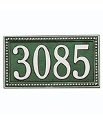 Egg and Dart Horizontal Wall Address Plaque