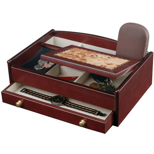 Mens jewelry box and dresser valet in jewelry boxes and for Men s valet box