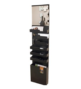 Entryway Mail and Key Wall Organizer - Black Image