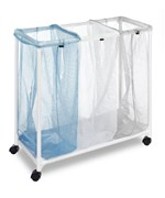 White Triple Laundry Sorter