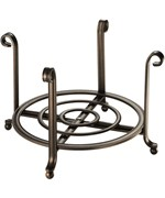 Small Serving Stand and Plate Holder - Bronze