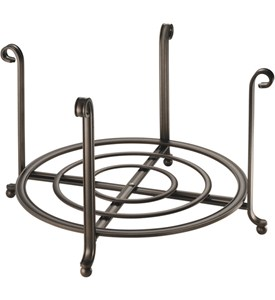 Large Serving Stand and Plate Holder - Bronze Image