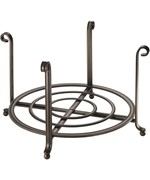 Large Serving Stand and Plate Holder - Bronze