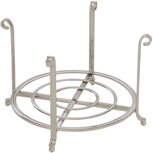 Large Serving Stand and Plate Holder - Nickel Image